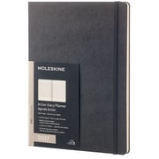 "2017 Moleskine® Weekly Pro Planner, 12 Month, 7.5"" x 9.75"",  Black Hard Cover, Extra Large (894240)"