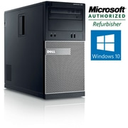 Refurbished Dell OptiPlex 390 Tower Intel Core i3 3.1Ghz 6GB RAM 750GB HDD Windows 10 Home