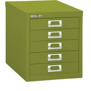 Bisley Five Drawer Steel Multidrawer, Green, Letter/A4 (MD5-GR)