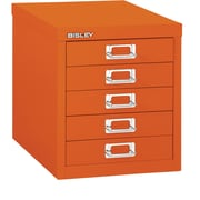 Bisley Five Drawer Steel Multidrawer, Orange, Letter/A4 (MD5-OR)