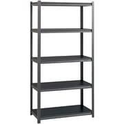 Hirsh 3200lb Rivet Shelving, 5 shelf, 18x36x72