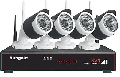 Sungale SG WK204 4CH 720P Wireless Monitoring Kit Black White