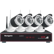 Sungale SG-WK204 4CH 720P Wireless Monitoring Kit, Black/White