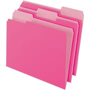 PendaFlex® Two-Tone Color File Folders, Letter size, Pink, 10/pack