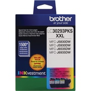 Brother LC3029 Color C/M/Y Ink Cartridges (LC30293PKS), 3/Pack