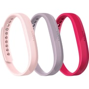 Fitbit Flex 2, Accessory 3-Pack, Pink , Large