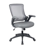 Techni Mobili Mid-Back Mesh Task Office Chair with Height Adjustable Arms. Color: Gray
