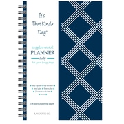 "Kahootie Co™ It's That Kinda Day™ - Daily Planner, 6"" x 9"", Navy Diamonds (ITKDND)"