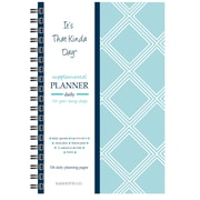 "Kahootie Co™ It's That Kinda Day™ - Daily Planner, 6"" x 9"", Teal Diamonds (ITKDTD)"