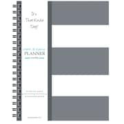 "Kahootie Co™ It's That Kinda Day™- Home & Work Weekly Planner, 9"" x 11.5"", Gray Stripe(ITKHWGS)"