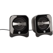 HP  BR387AA Compact 2.0 PC Speaker, Black