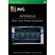 AVG AntiVirus 2017, 3 Users 2 Year for Windows (1-3 Users) [Download]