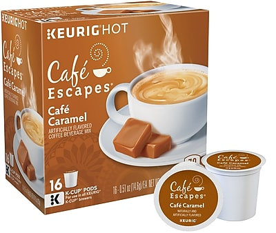 Cafe Escapes Cafe Caramel, Keurig K-Cup Pods, 16 Count 953480