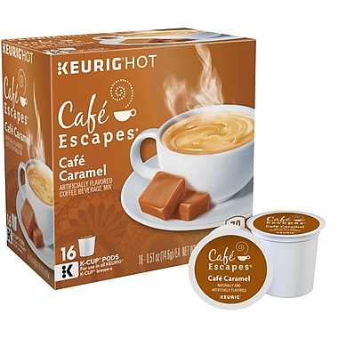 Cafe Escapes® Cafe Caramel, Keurig® K-Cup® Pods, 16 Count