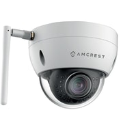 Amcrest ProHD Outdoor 3 Megapixel Wi-Fi Vandal Dome IP Security Camera - 3MP (2048 TVL), White