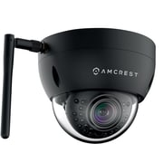 Amcrest ProHD Outdoor 3 Megapixel Wi-Fi Vandal Dome IP Security Camera -3MP (2048 TVL), Black