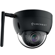 Amcrest ProHD Outdoor 1.3 Megapixel Wi-Fi Vandal Dome IP Security Camera - 1.3MP (1280x960 TVL), Black
