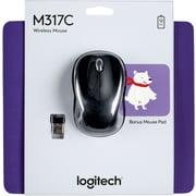 Logitech M317 wireless mouse- Polar Bear mouse pad