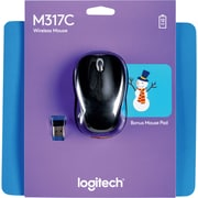 Logitech M317 wireless mouse- Snowman mouse pad