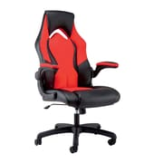 OFM Essentials by OFM Leather Racing Style Gaming Chair Black/Red ESS-3086-RED