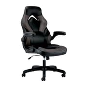 OFM Essentials by OFM Leather Racing Style Gaming Chair Black/Gray ESS-3085-GRY