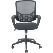 OFM Essentials by OFM Fabric Swivel Mesh Task Chair, Black, Fixed Arms (ESS-100-BLK)