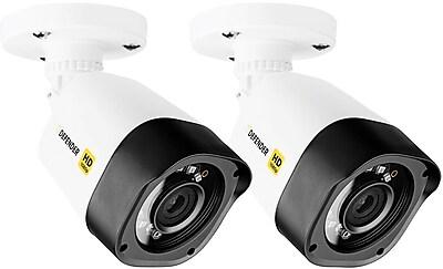 Defender HD 1080p Indoor Outdoor Long Range Night Vision 2 Pack Bullet Security Cameras