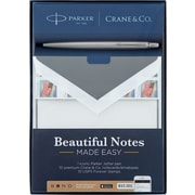 Beautiful Notes Made Easy Gift Set: 1 PARKER Jotter Pen, 10 CRANE & CO. Notecards, 10 USPS Stamps + BOND offer (BDC1400P)