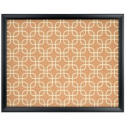 U Brands Cork Bulletin Board 20 x 16 Black Wood Frame Fashion Design Print