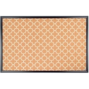 U Brands Cork Bulletin Board 23 x 35 Black Wood Frame Fashion Design Print  (306U00-01)