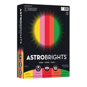 "ASTROBRIGHTS Color Paper, 8 1/2"" x 11"", 24 lb., 5-Color ""Vintage"" Assortment, 500 sheets"