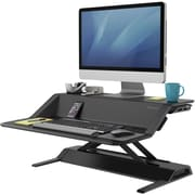 Fellowes Lotus™ Sit Stand Workstation - Black