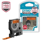 DYMO D1 DURABLE 1/2 BLK ON ORG
