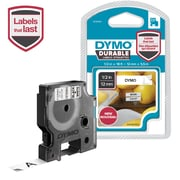 DYMO D1 DURABLE 1/2IN BLK ON W