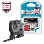 DYMO D1 DURABLE 1/2 WHT ON BLK