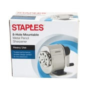 STAPLES® METAL MOUNTABLE MANUAL PENCIL SHARPENER (27672)