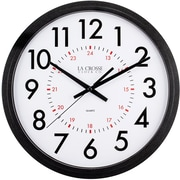La Crosse Clock 404-2636B 14 Inch Info-Tech Commercial Wall Clock, Black