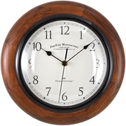 "FirsTime® 11"" Round Wall Clock, Walnut"