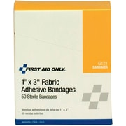 "First Aid Only® 1"" x 3"" First Aid Refill Fabric Bandages, 50/Box (51006)"