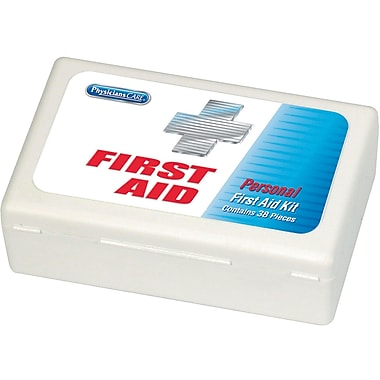 PhysiciansCare® by First Aid Only® Personal First Aid Kit, 38 Pieces, Plastic Case (447475)