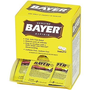 Bayer® Aspirin, 100 Packets, 220 Mg (90010)