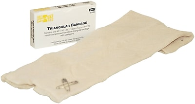 First Aid Only Triangular Sling Bandage w 2 Safety Pins 40 x 40 x 56