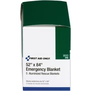 "First Aid Only™ Emergency Blanket, 52"" x 84"", 5/box"