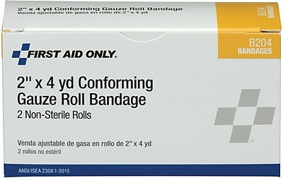 First Aid Only Conforming Gauze Roll Bandage 2 2 box