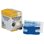 "First Aid Only® Adhesive Bandage, Blue Metal Detectable, Woven, Knuckle, 1 1/2""-3"" 40/Box (G174)"