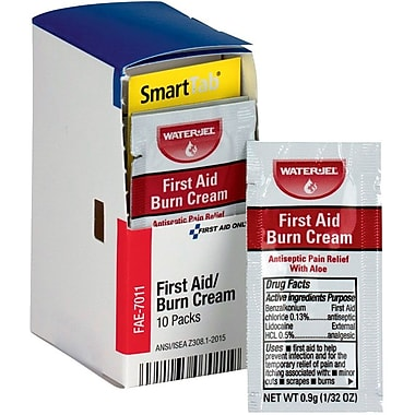 First Aid Only® SmartCompliance™ Refill First Aid Burn Cream, 10 Per Box (FAE-4002)