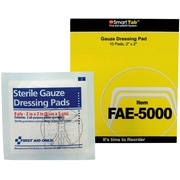 "First Aid Only® SmartCompliance™ Refill, Gauze Pads, 2"" x 2"", 2 Per Pack, 5 Packs Per Box (FAE-5000)"