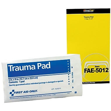 First Aid Only® SmartCompliance™ Refill, Trauma Pad, 5