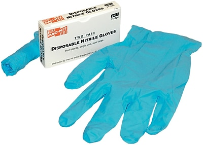 First Aid Only Nitrile Medical Grade Gloves Non Sterile Large 2 Pairs AN5011 21 026