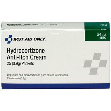 First Aid Only® Hydrocortisone Cream, .9g. 25 Per Box (G486)